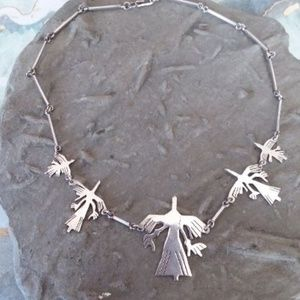 Jewelry - Vintage Sterling silver phoenix necklace